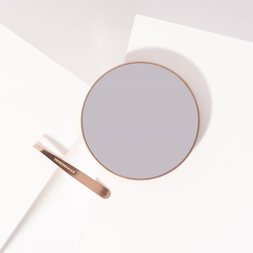 Rose Gold Mini Slant Tweezer And 10x Mirror Duo