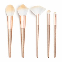Precious Stone Brush Set - Rose Quartz